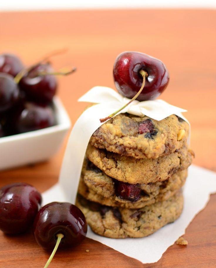 Cherry chocolate chunk cookies | Desserts | Pinterest