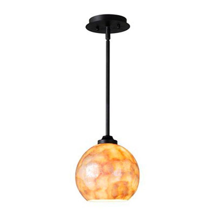 capiz shell globe pendant light small. Black Bedroom Furniture Sets. Home Design Ideas