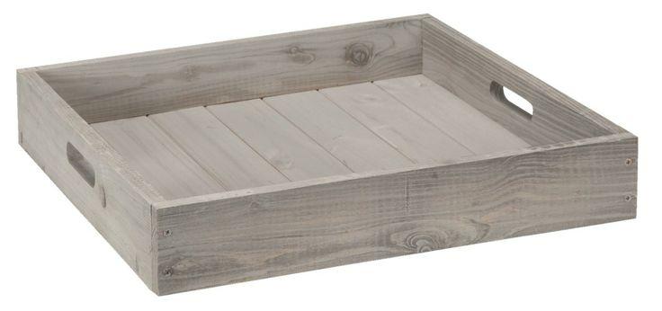 Dienblad Square: in stoer grijs, decoratie voor de woonkamer of ...