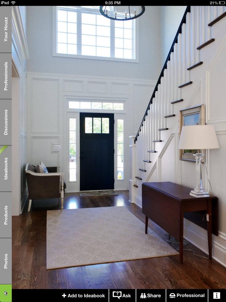 Foyer Door Trim : Molding on walls entry way upstairs hallway pinterest