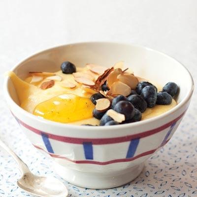 breakfast polenta. sweet or savory.