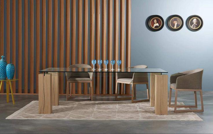 Table de repas tenere bois massif salle manger pinterest for Salle a manger roche bobois