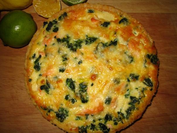 Salmon And Watercress Quiche Recipe — Dishmaps
