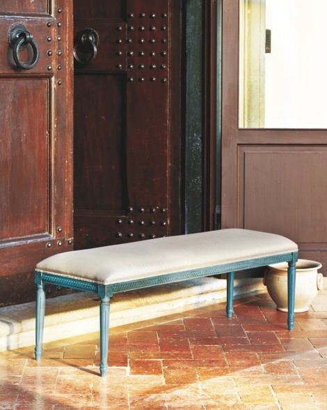 Louis XVI Upholstered Bench, now available at ballarddesigns.com