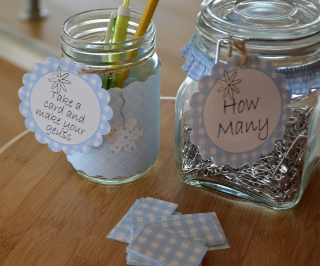 baby shower pin game put pins into a baby bottle instead of a jar