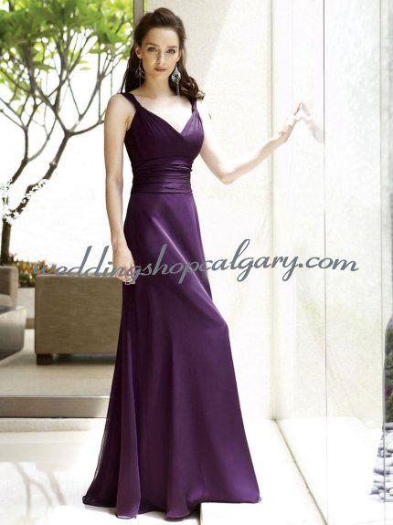 Deep Purple Wedding Dresses : Deep purple bridesmaid dress wedding events