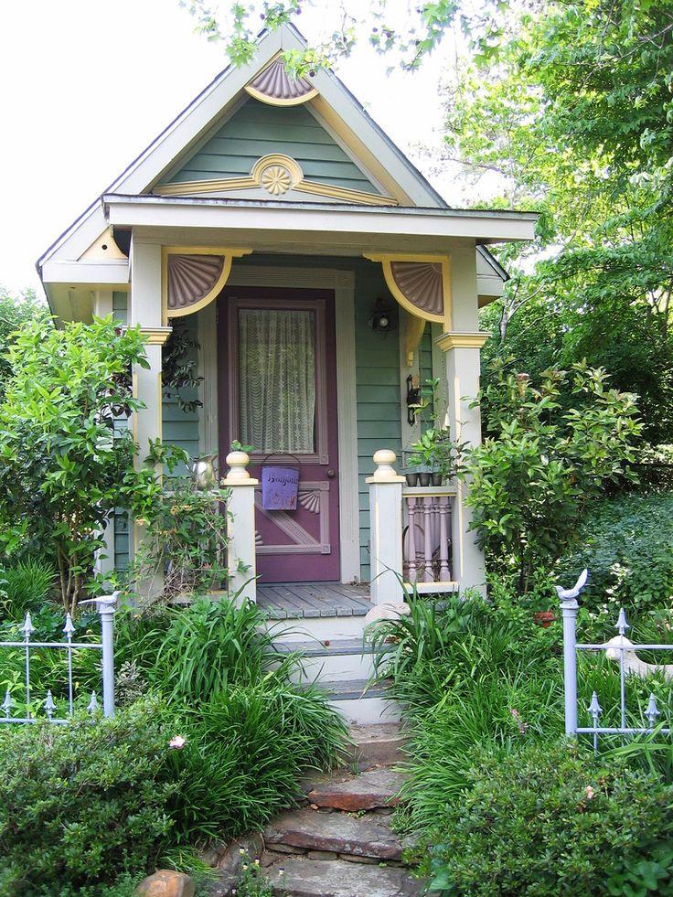 Victorian Backyard Structures : purple door  Cottage in the Woods  Pinterest
