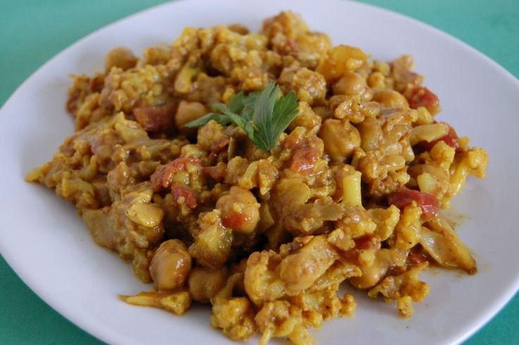 curried cauliflower and chickpea stew | Eats | Pinterest