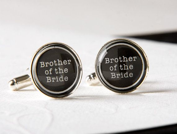 Perfect Wedding Gift For Brother : Brother of the Bride CufflinksPerfect Gift for your Brother on you ...
