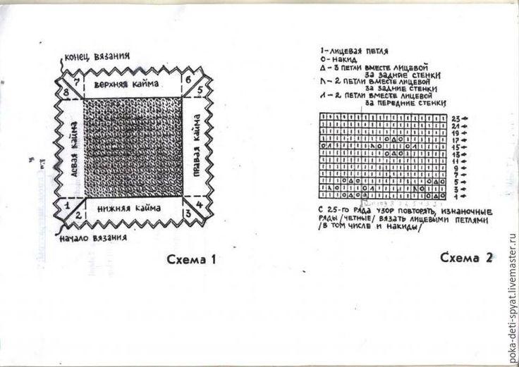 Схема вязания пуховой шали спицами с описанием 53
