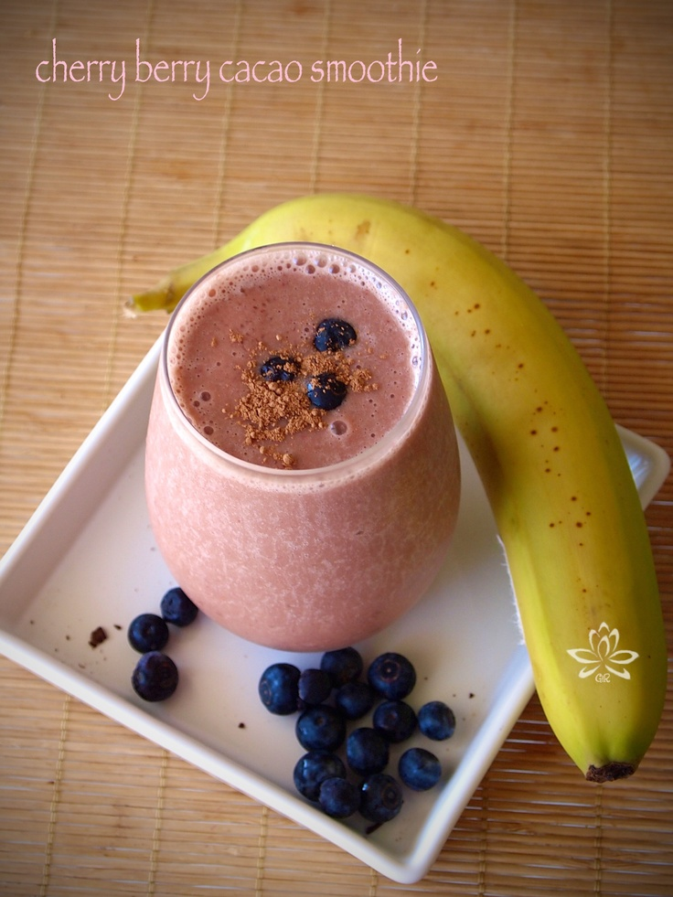 Cherry berry cacao smoothie | My Recipes: Vegan & Raw | Pinterest