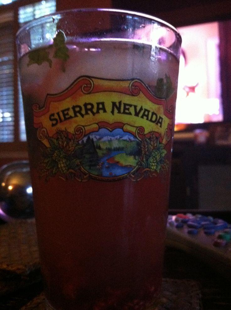 ... mint, raspberries, lemonade, ice tea, pineapple vodka and spiced rum