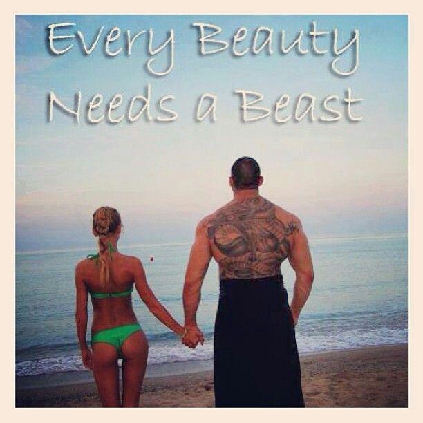 Every beauty needs a beast.   My Heart's Desires   Pinterest