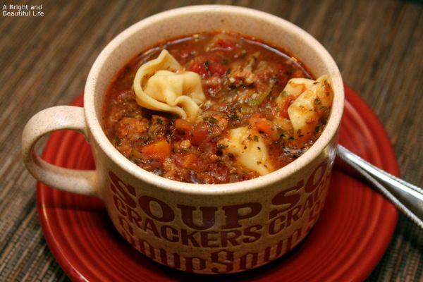 Italian Sausage Tortellini Soup | Food | Pinterest