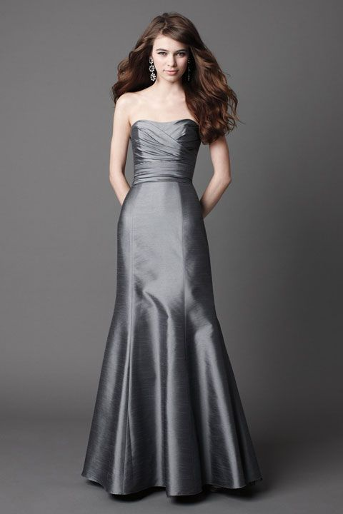 Glamorous sleeveless trumpet / mermaid bridesmaid dress