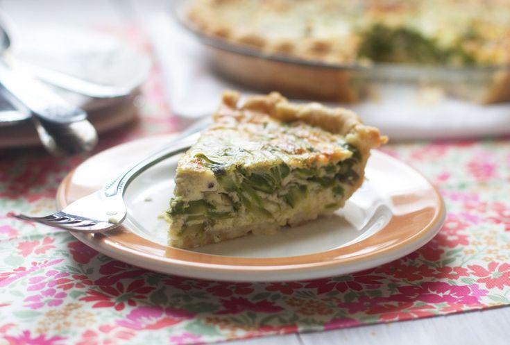 ... asparagus quiche a simple savory pie asparagus leek and gruyere quiche