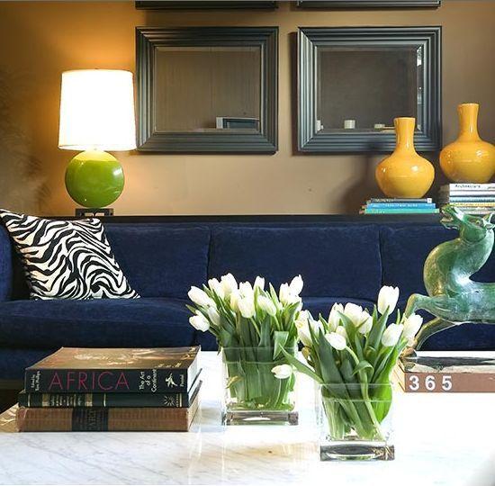 Living Room With Royal Blue Sofa San Diego Lofty Living Pinterest