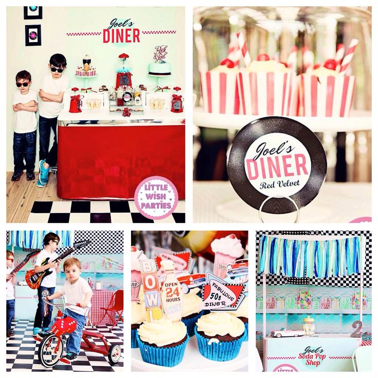 1950 39 s diner rock n roll birthday party - Rock and roll theme party decorations ...