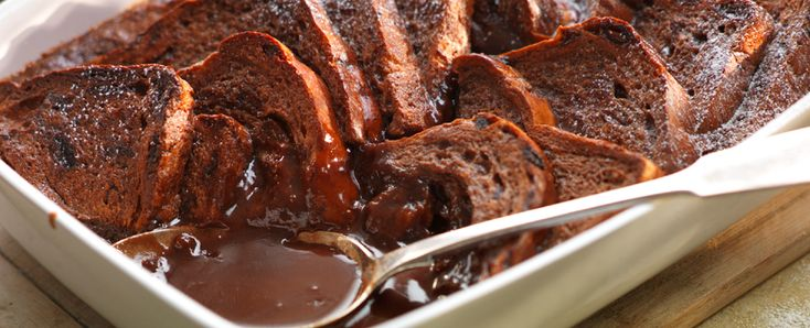 Chocolate Bread and Butter Pudding ~ Made with Cadbury Chocolate