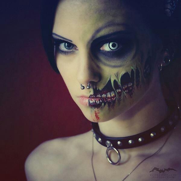 Half Zombie Makeup | Here Comes Halloween | Pinterest
