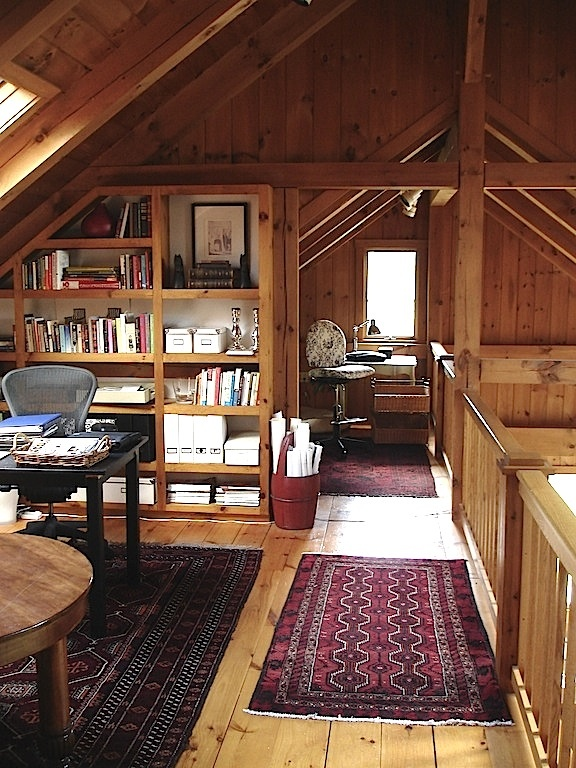 Home office log rustic and barn homes pinterest for Home office cabins