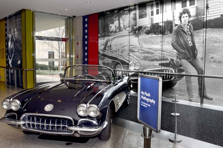 """The very same 1960 Corvette, brought right after the success of """"Born to Run,"""" like the other memorabilia - """"in the picture."""" (Photo by Tom Gralish)"""