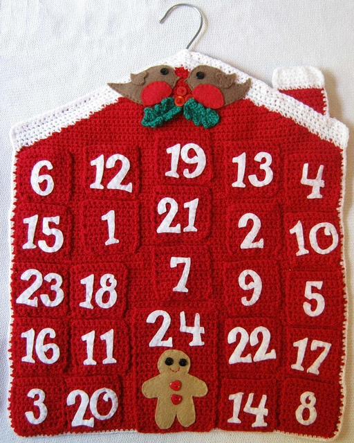 Knitting Pattern Christmas Advent Calendar : Crochet Advent Calendar pattern by Clare Collier