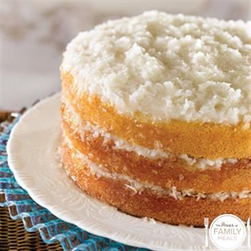 Old Fashioned Coconut Cake (1) From: The Power Of Family Meals, please ...