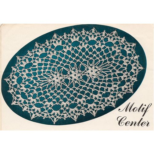 Crochet Patterns Oval Shape : Flower Motif Center Oval Doily Crochet Pattern : The small flowers are ...