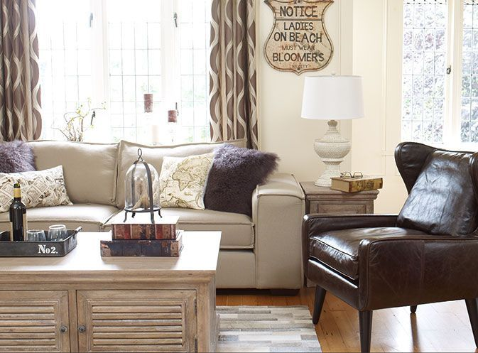 Neutral living room urban barn living areas pinterest