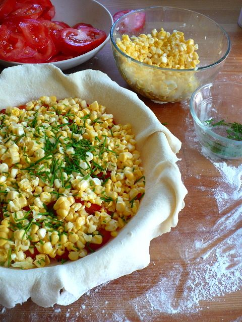 corn tomato pie from English Kitchen. This sounds really terrific!