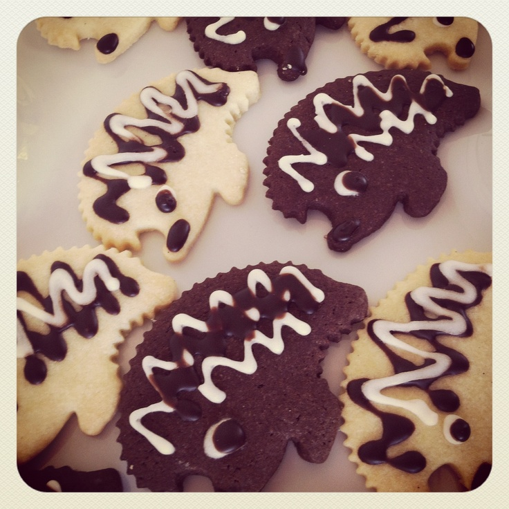 Black & White Hedgehog Cookies | Cookies | Pinterest