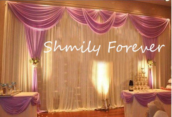 3X6Meters Ice Material Soft Wedding Backdrops Wedding Stage Decor