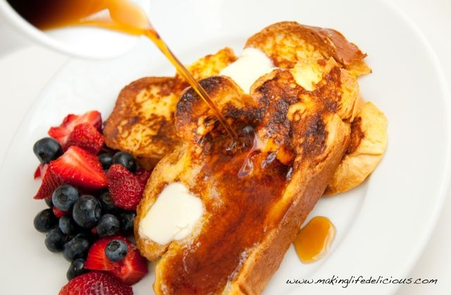 Challah French Toast. The word I can never pronounce correctly but ...