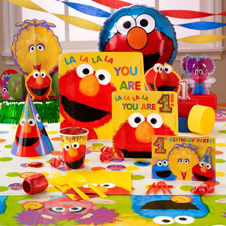 Elmo 1st birthday 1st birthday pinterest for 1st birthday decoration ideas for boys