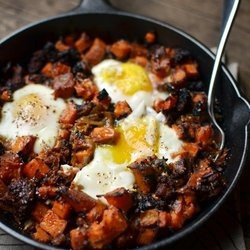 sweet potato hash with sausage & egg | FOOD!!!! | Pinterest
