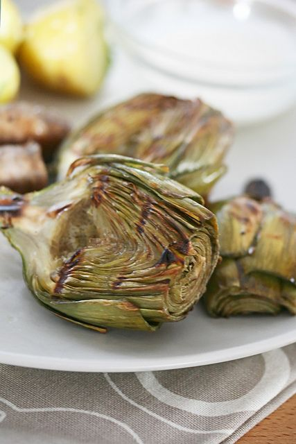 Grilled Baby Artichokes with Lemon Aioli by Isabelle @ Crumb, via ...