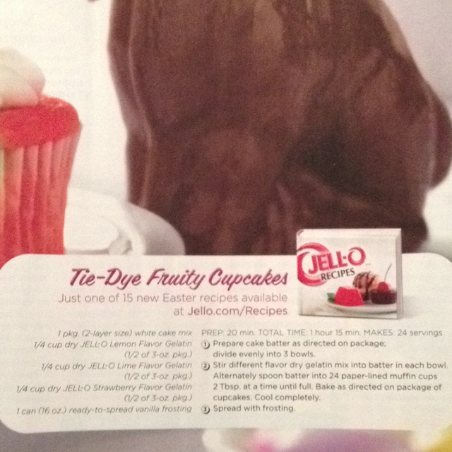 Tie-Dye Fruity Cupcake | cupcakes/muffins | Pinterest