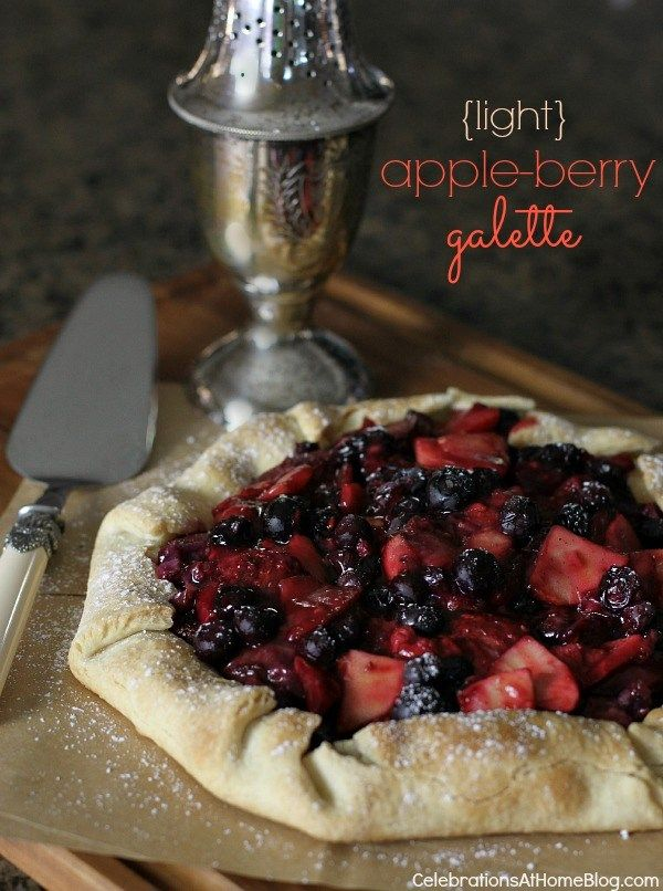 LIGHTENED UP APPLE-BERRY GALETTE #dessert #entertaining