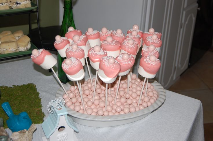 baby shower bottle marshmallow pops baby ideas pinterest