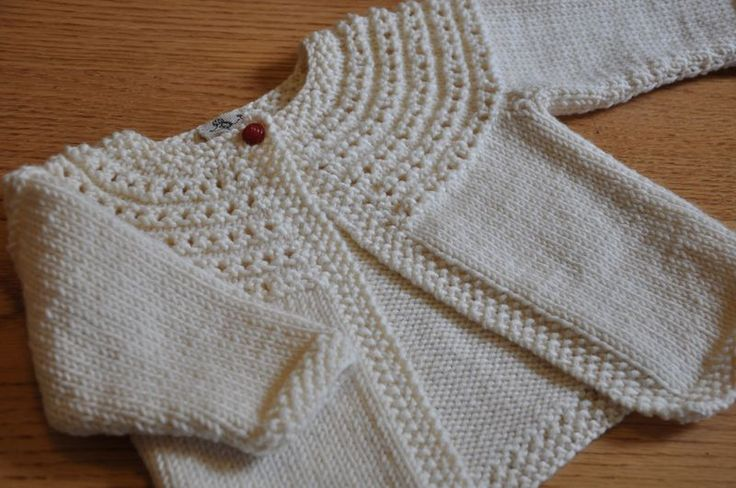 Easy Baby Sweater Knitted Pattern - Long Sweater Jacket