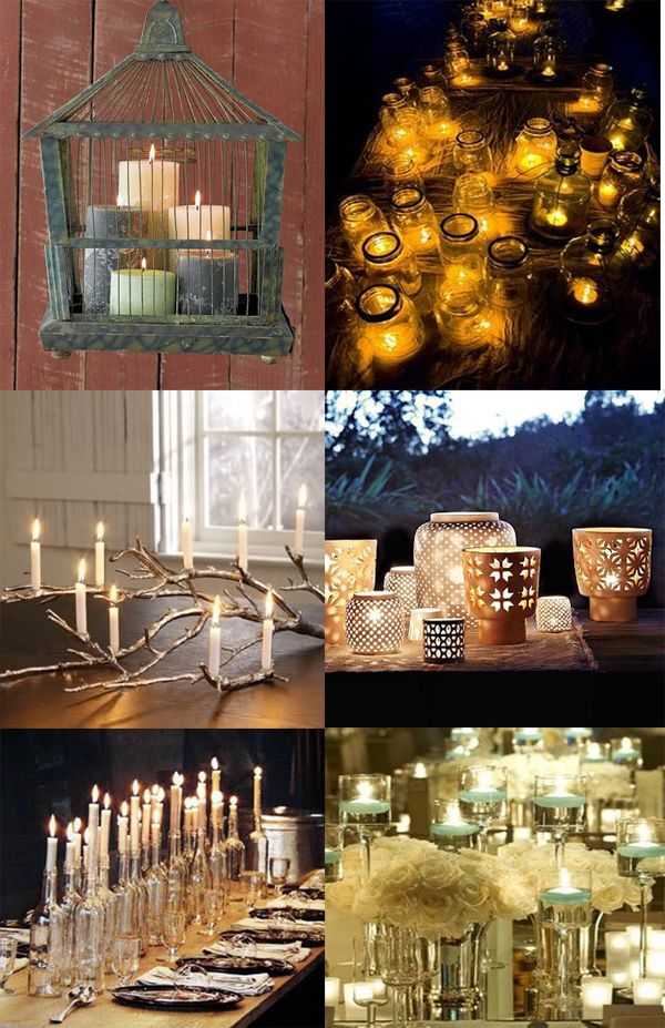 creative lighting ideas for inside and outside---you gotta love candles.