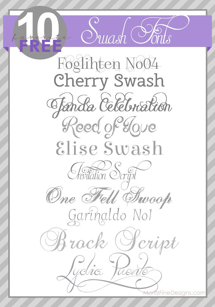 Best Wedding And Shower Invitation Fonts