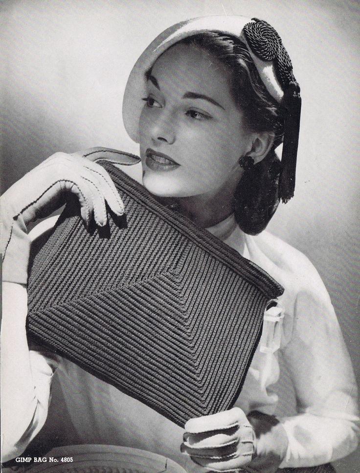 Vintage Crochet Clutch Pattern : Vintage Glam Crochet Clutch Crochet Pattern PDF by VintagePatternPlace ...