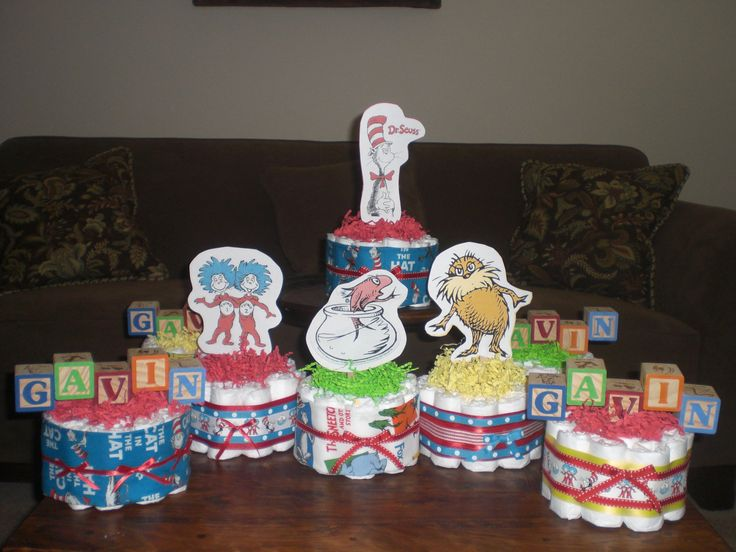 Cake Centerpieces For Baby Shower : Dr Seuss Diaper Cakes Baby Shower Centerpieces other sizes ...