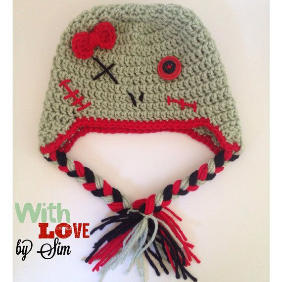 Zombie Crochet Beanie Hat on Etsy, $25.00.. Johnny Dodge... Heres the ...