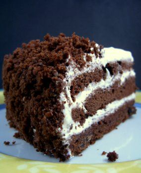 Devil's Food White Out Layer Cake (chocolate & marshmallow, what'...