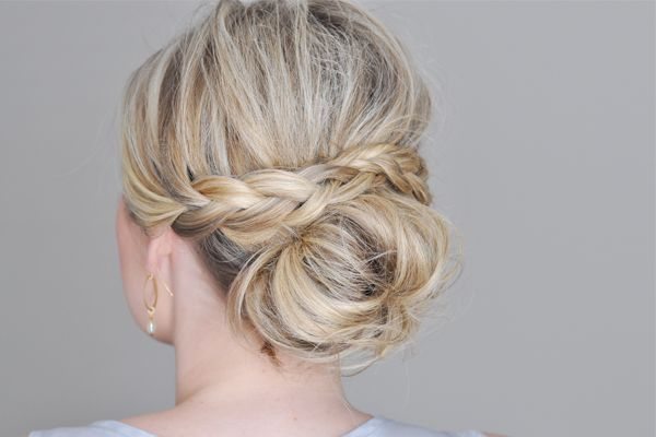 A braid kicks up the everyday messy bun by a notch. Click on the photo for easy how-tos from the Small Things Blog.