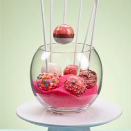 Raspberry Sherbet Cake Pops | Recipe
