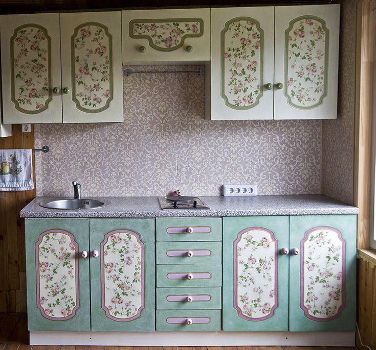 Как отреставрировать кухонный гарнитур своими руками фото